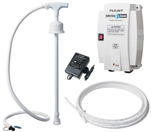 240v Flojet Bottled Water Pump - Dispenser c/w UK Plug & 3/8 Pushfit (BW4003-000A)