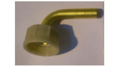 "3/4"" BSP Female Nut & Washer x 3/8"" Brass Stem Elbow"