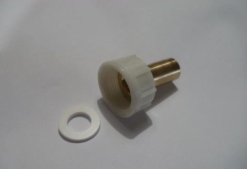 "3/4"" BSP Female Nut x 15mm Brass Standpipe c/w Washer"