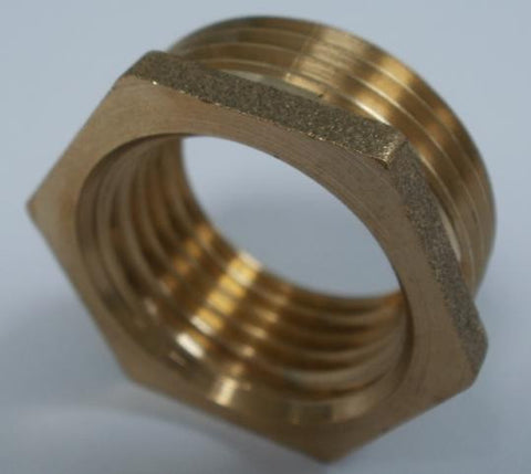 "3/4"" BSPT Male x 1/2"" BSPT Female Adapter In Brass"