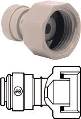 "3/8"" Pushfit x 1/2"" BSP Female Tap Adapter"