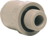"3/8"" Pushfit  x 3/8"" BSP Male Straight Adapter"