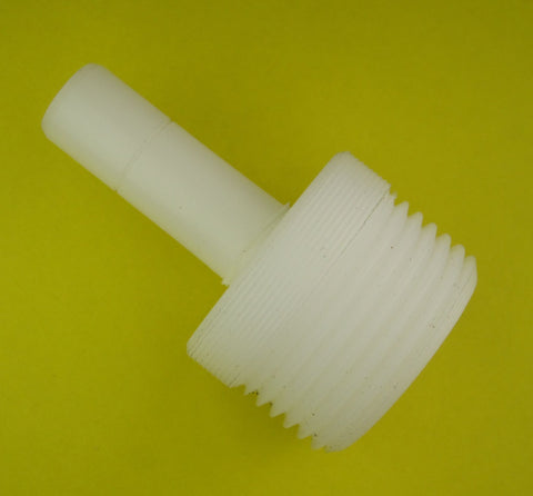 "3/8"" Stem To 3/4"" Male Threaded Adapter In Delrin Plastic"