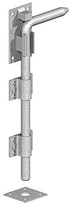 Gatemate 5204501 P34 Garage Door Bolts, Galvanised 450 mm
