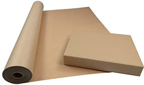 750mm X 50m Roll Of Brown ECO Kraft Paper Made From 100 Recycled Paper Biodegrad