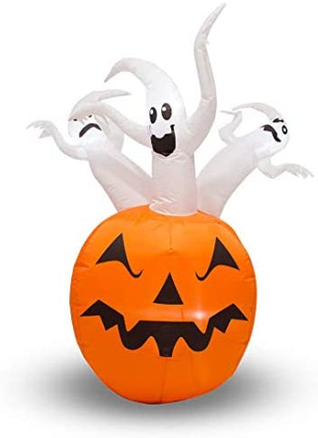 Zzapit Inflatable Halloween Ghost Pumpkin with LED Lights-1.5m (5ft) Mains Powered with Built in Pump: Amazon.co.uk: Kitchen & Home