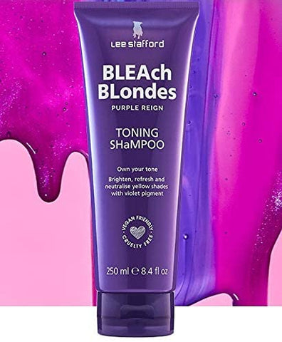 Lee Stafford Bleach Blonde Shampoo Purple Anti Yellow Brassy Shampoo 250 ml