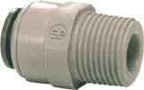 "5/16"" Pushfit x 3/8"" NPT Male Straight Adapter"