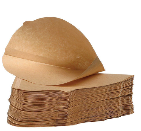 500 x Brown Coffee Filter Paper Cones, Size 4, Espresso 1 x 4 (Unbranded But Universal Fit)