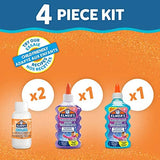 Elmer S Glitter Slime Kit With Purple Blue Glitter Glue Plus 2 Bottles Of Magic