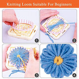 Flower Loom Round Knitting Loom Set with 1 Plastic Needles Flower Weaving