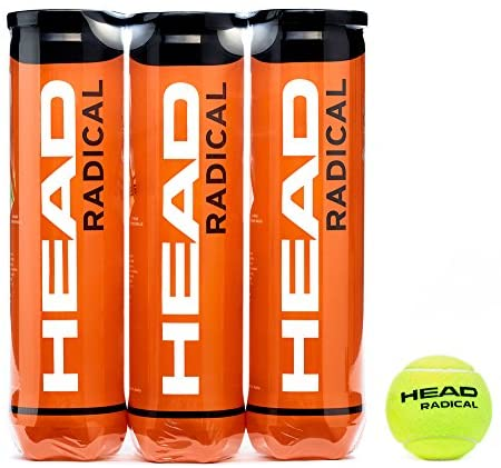 HEAD Radical Tennis Balls, Triple Pack (12 Balls)