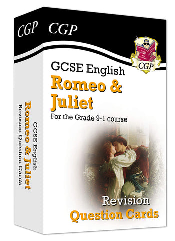 New Grade 9 1 GCSE English Shakespeare Romeo Juliet Revision Question Cards CGP
