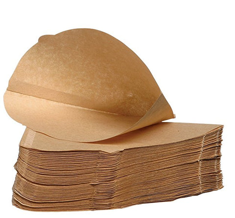 2500 x Brown Coffee Filter Paper Cones, Size 4, Espresso 1 x 4 (Unbranded But Universal Fit)