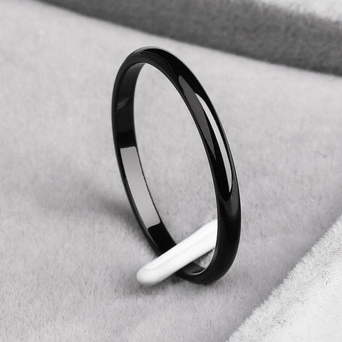 TITANIUM STEEL & ROSE GOLD SIMPLE WEDDING RING