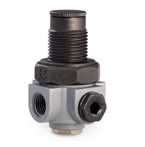 "Adjustable Plastic Pressure Reducing Valve c/w 1/4"" BSP Female Threads  & Gauge Port. Adjustable Bet"
