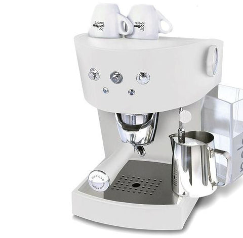 "Ascaso ""Basic"" (Pablo) Coffee Machine, White"