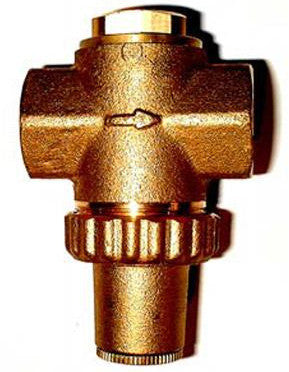 "Brass WRC Approved Pressure Reducing Valve @ 3.5 Bar c/w 3/8"" BSP Female Threads"