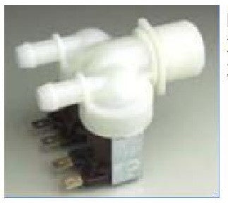Double Mains Water Solenoid Valve, 180 Degree, 230v  c/w 3/4 BSP Male x 10mm Barb