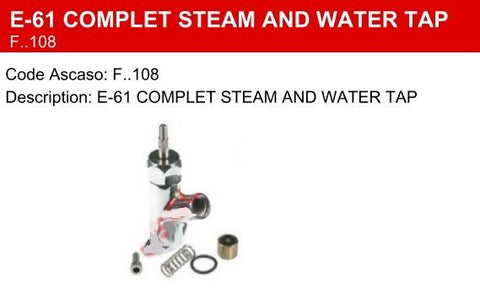 Faema E-61 Complete Steam / Water Valve / Tap