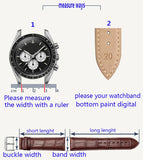 Cow Leather Watchband Strap Fit