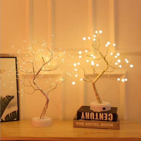 LED Copper Wire Tree Shape Night Lamp Table Light