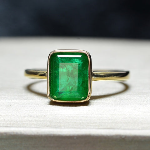 Party Emerald Rings For Women Vintage Trendy Gift