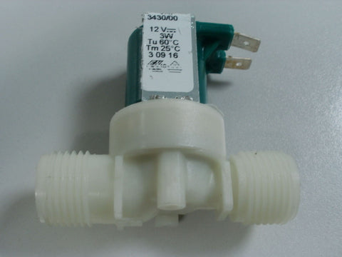 "Single 180 Degree Solenoid Valve, 12v DC (3W) Comes With 1/2"" BSP Male Threads"