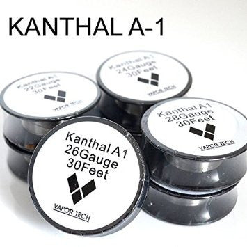 Vapor Tech Kanthal A1 Wire 24G/26G/30G/32G 10 Meter Spool | Vape Junction