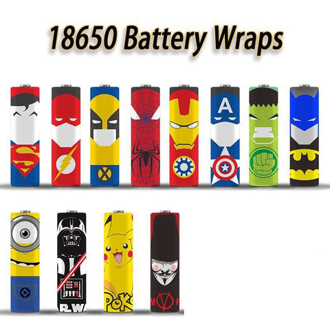 Comic Battery Wraps | Vape Junction