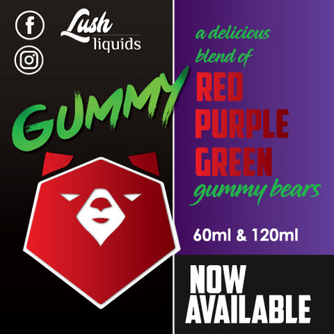 Gummy by Lush Liquids 60ml | Vape Junction