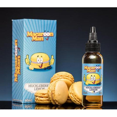 Macaroon Man Huckleberry Lemon 60ML | Vape Junction
