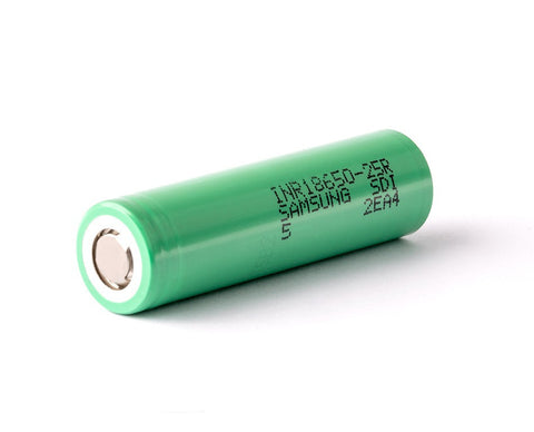 Samsung 25R 2500mah High Drain 25A Continuous Discharge | Vape Junction