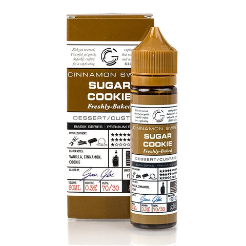 Cinnamon Sweet Sugar Cookie by Glas Basix E-Liquid 60ml | Vape Junction