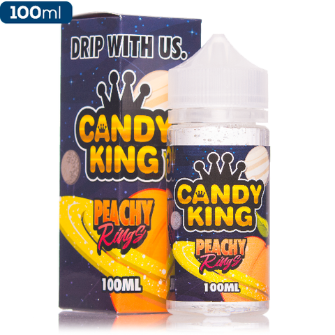 Candy King Peachy Rings 100ml | Vape Junction