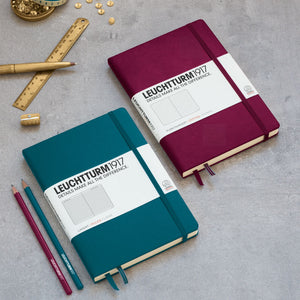 new Leuchtturm1917 Port Red and Pacific Green notebooks