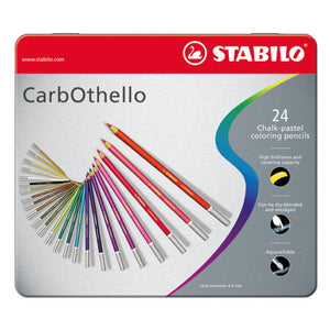 STABILO Carbothello 24 Chalk Pastel Colouring Pencils