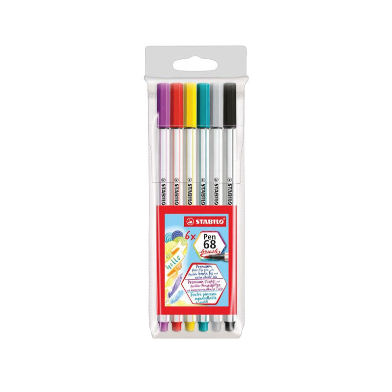 Swann stabilo 68 brush pen pack of 10