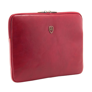 Tumble and Hide leather Ipad sleeve red