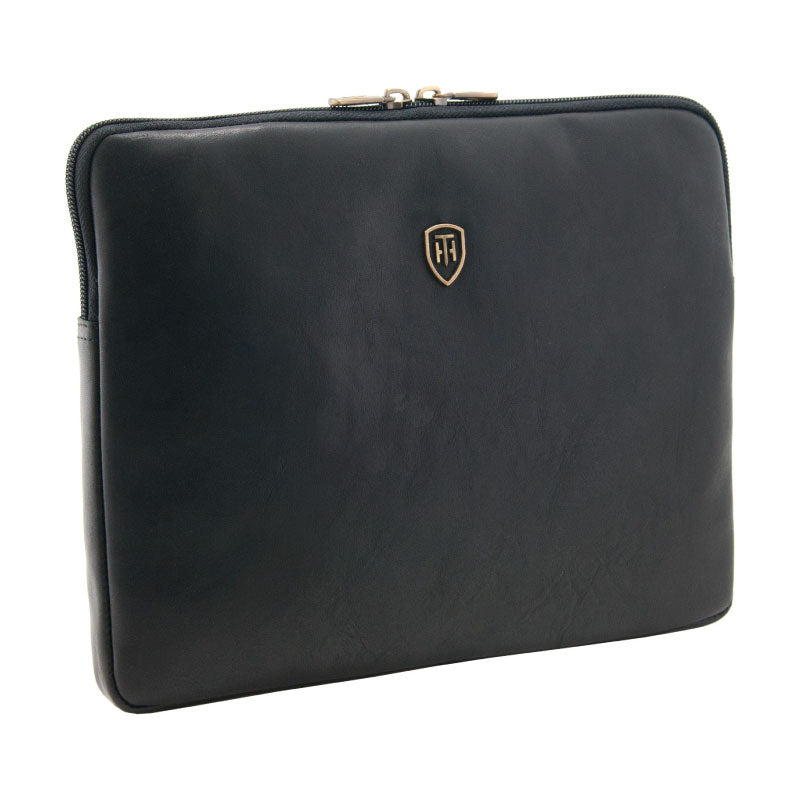 Tumble and Hide leather Ipad sleeve black