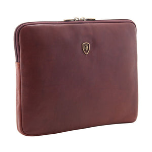 Tumble and Hide leather Ipad sleeve brown