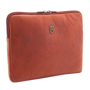 Tumble and Hide leather Ipad sleeve cognac