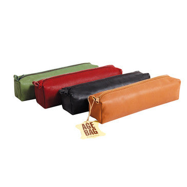Age Bag Square Leather Pencil Case