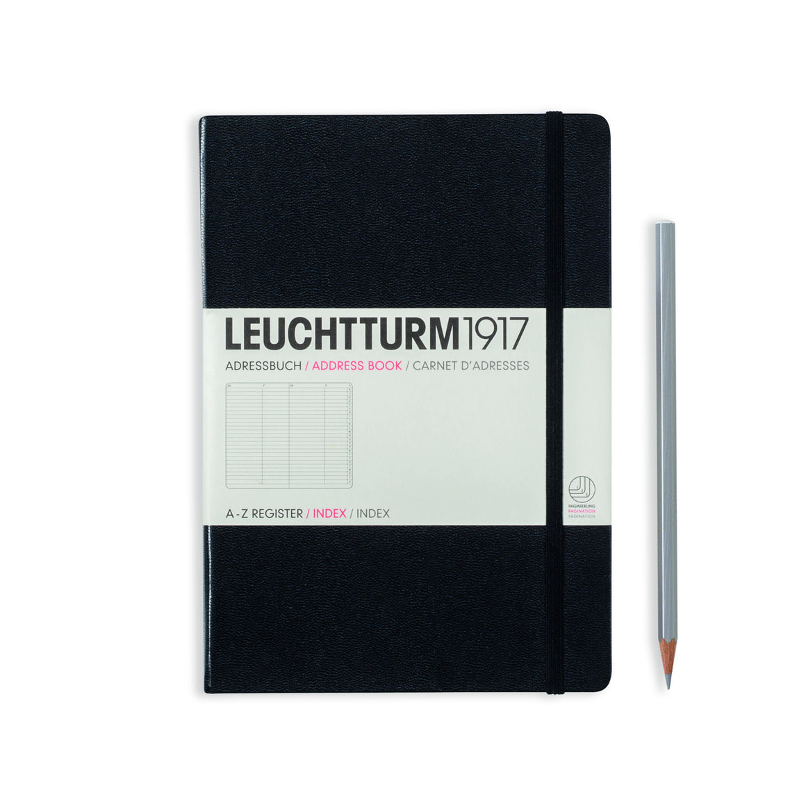 LEUCHTTURM1917 Medium (A5) Address Book Black Cover