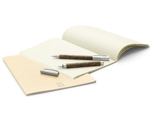 Faber-Castell Ambition Wood / Chrome-plated Fountain Pen Coconut Wood Image 4