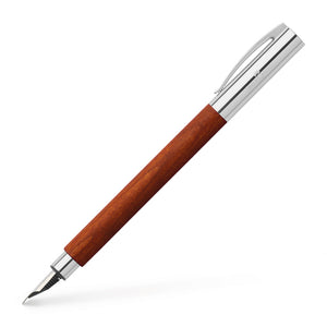Faber-Castell Ambition Wood / Chrome-plated Fountain Pen Pear Wood