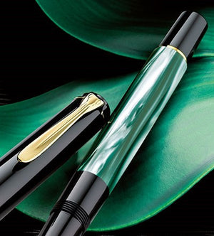 Pelikan Classic M 200 Green-Marbled Fountain Pen Image 3