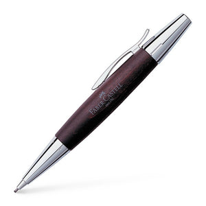 Faber-Castell E-Motion Wood / Chrome-plated Metal Propelling Pencil Dark Brown