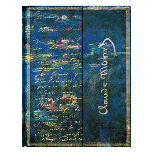 Paperblanks Embellished Manuscripts Journal - Ultra Claude Monet (Letter to Berthe Morisot with 'Water Lilies' backdrop)