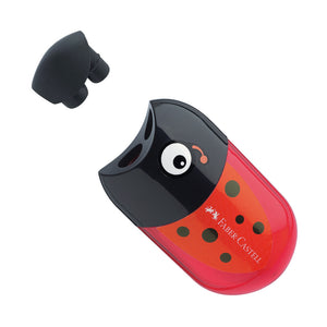 Faber-Castell Double Hole Pencil Sharpener and Eraser - ladybird 183526 image 2